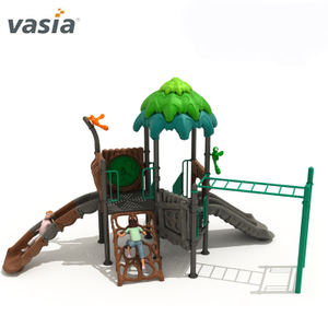 Natural Popular Theme Children Plastic Slide Outdoor Playground Set