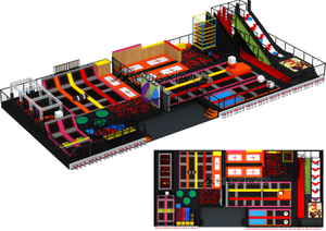 Huaxia Large Indoor Trampoline Park for Sale