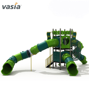 Best supplying outdoor adventure play equipment children playground with tube slide