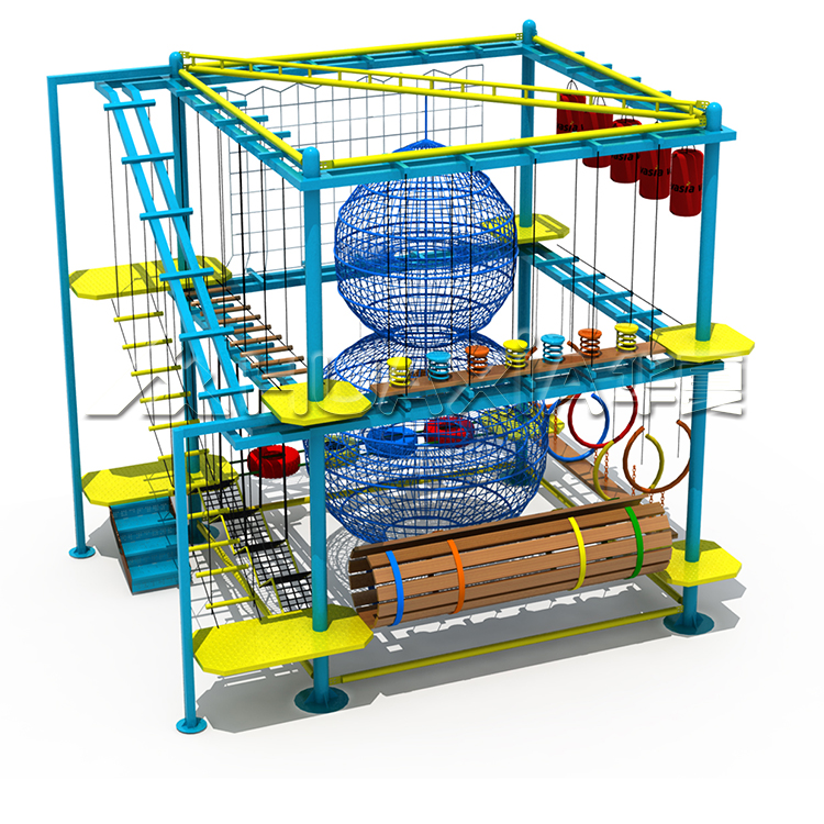Happy Brave Kids Chanllege Playground Rope Obstacle Course Equipment