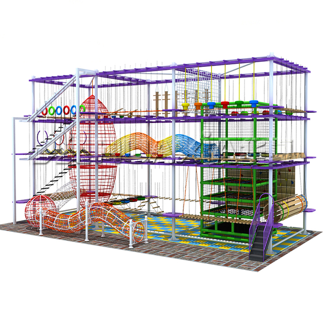 New Design Children Indoor Adventure Time Toys Series Rope Course