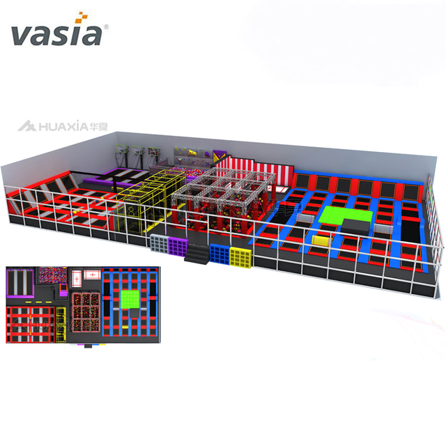 Professional Business Plan Used Small Children Foam Blocks Ninja Warrior Jump Equipment Kids Indoor Trampoline Park For Sale