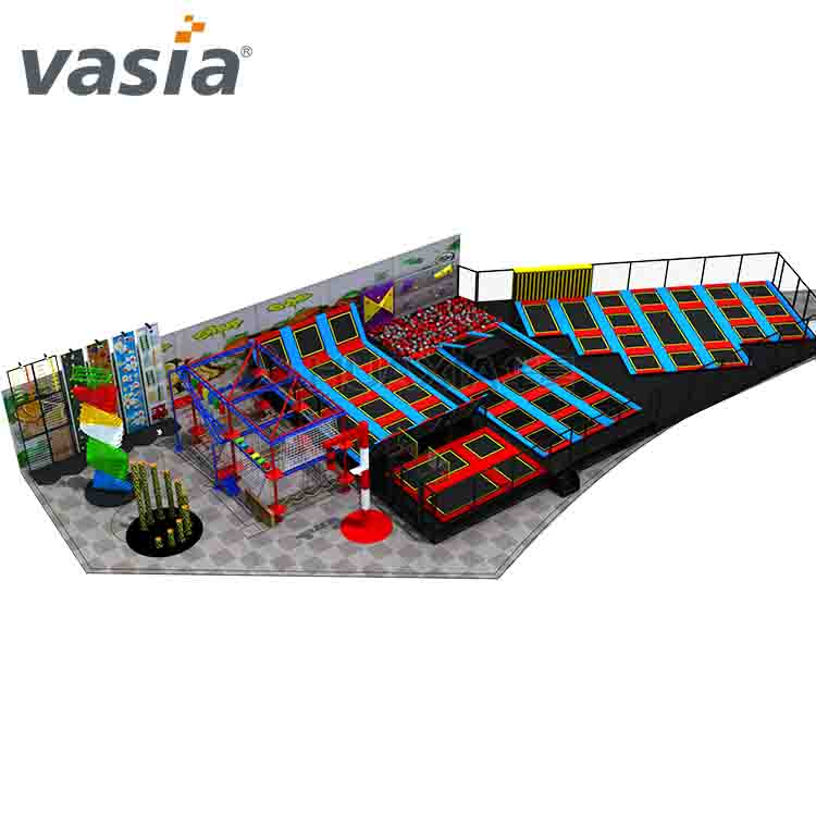 Huaxia Colorful Commercial Indoor Trampoline Playground for Sale