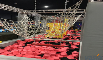 How did SlamBall or Basketball Slam develop at indoor trampoline park?